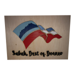 Painted Sabah Flag with Frame (A4)