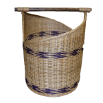 Rattan Laundry Basket with Holder (Front)